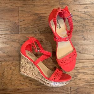 Mossimo Supply Co. Red Womens Wedges size 7.5